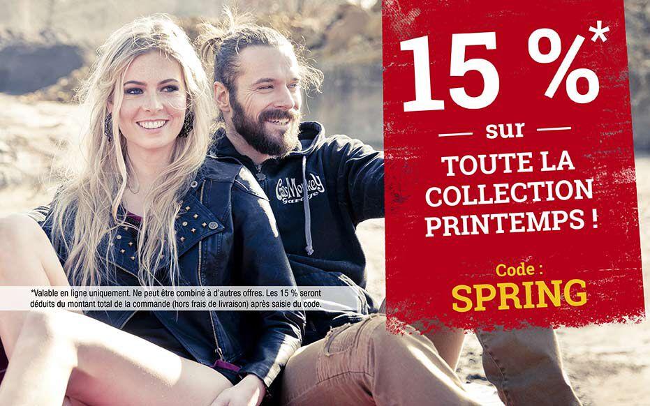 15 % sur toute la collection printemps ! Code : SPRING
