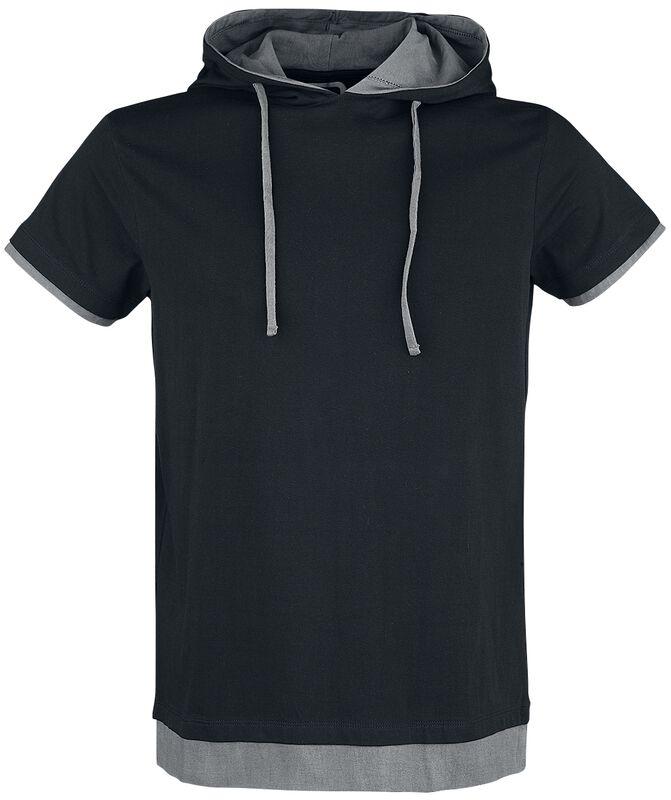 T-Shirt Noir Avec Capuche