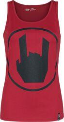 Haut Rouge Avec Logo EMP Imprimé