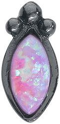 Push-fit Labret Black Rosa Bindi Opal