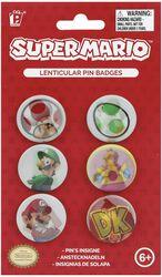 Lot De Badges Super Mario
