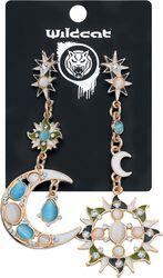 Boucles d'Oreille Soleil et Lune