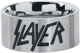 Slayer Silver Logo Ring