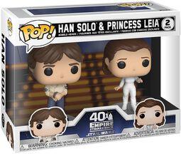 L'Empire Contre-Attaque 40ème Anniversaire - Han Solo & Princesse Leia (2-Pack) - Funko Pop!