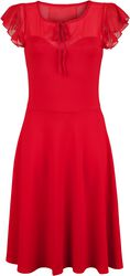 Robe Rouge Manches Flottantes Victoria