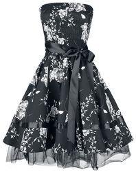 Robe Floral Black White