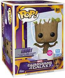 Marvel Experience: Groot (Mega Pop!) (Funko Shop Europe) (Flocked) Vinyl Figur 01