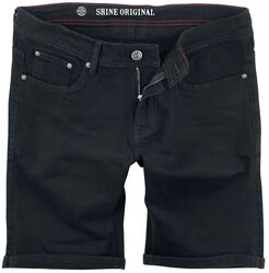 Regular Fit Denim Shorts Clean Black