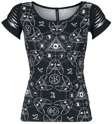 T-Shirt Teen Goth Cat
