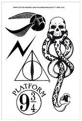Set De Tatouages Harry Potter