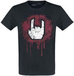 T-Shirt Noir  Imprimé Rockhand