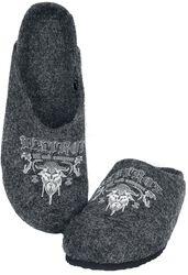 Chaussons Gris Imprimés Viking