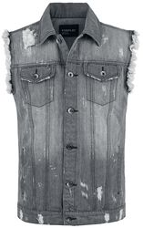 Vestes Sans Manches Destroyed En Denim
