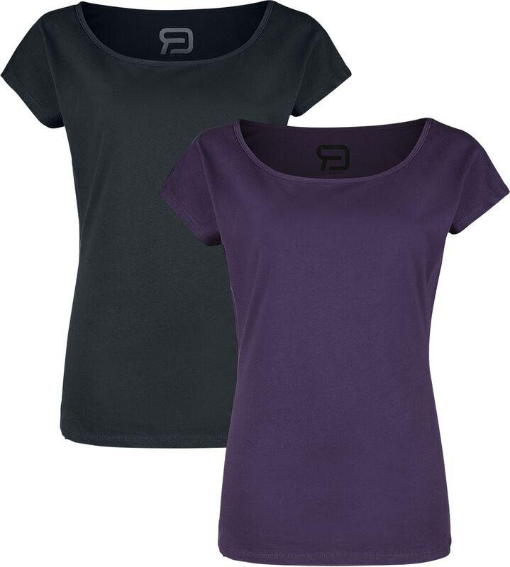 Lot De Deux T-Shirts Ras-Du-Cou