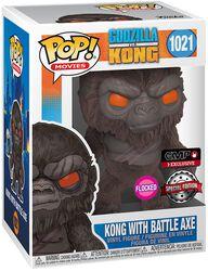 Kong Avec Hache De Combat (Flocked) - Funko Pop! n°1021