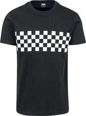 T-Shirt Bande À Carreaux