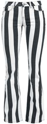 Pantalon Rayé Grace Noir/Blanc