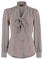 Blouse Houndstooth Style Années 40 Madeline
