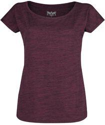 T-Shirt Violet Look Mélangé
