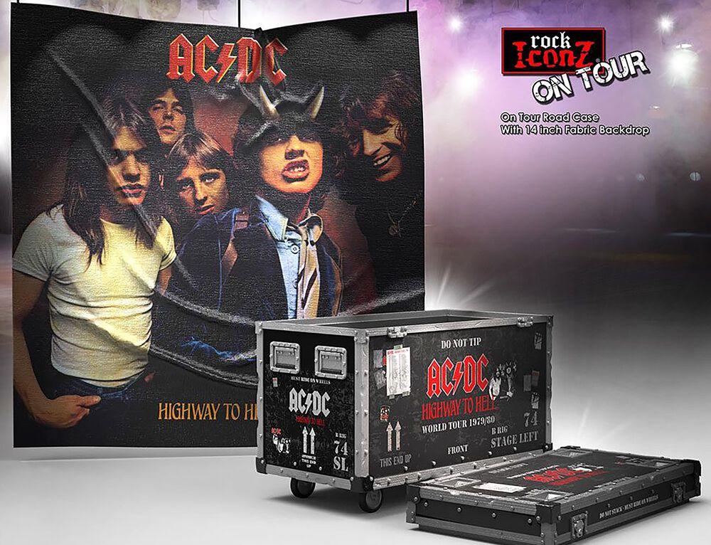 Rock Ikonz On Tour Highway to Hell Road Case Statue & Bühnenhintergrund Set
