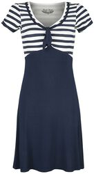 Robe Style Années 50 Bleue/Blanche