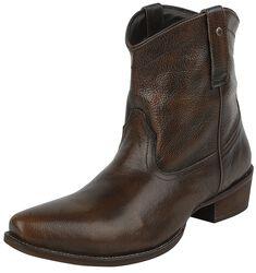 Bottines Cowboy Marron/Noir