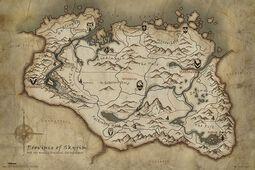 Carte Skyrim