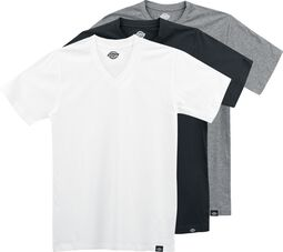 T-Shirts Couleurs Assorties Col V - Lot de 3