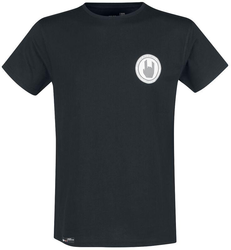 T-Shirt Noir Col Ras-Du-Cou