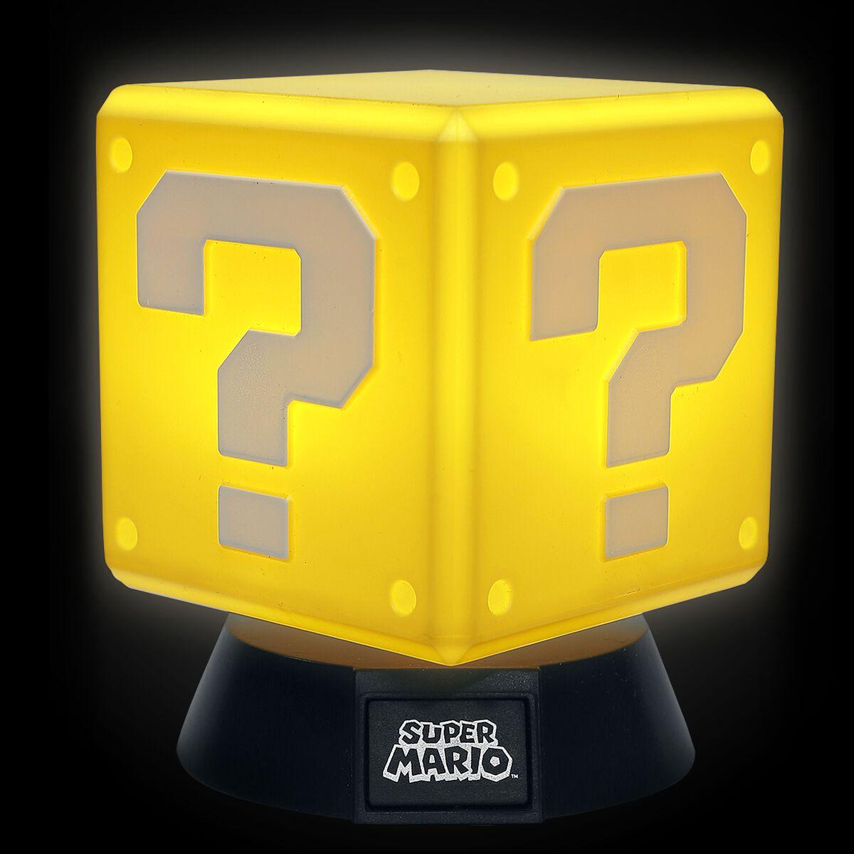 Question Block Super Mario Lampe De Chevet Emp