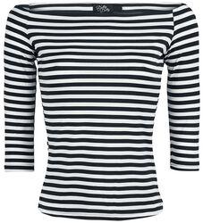 T-Shirt Épaules Dénudées À Rayures Gloria