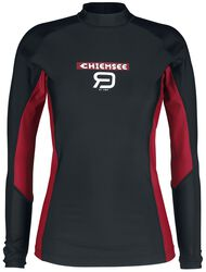 RED X CHIEMSEE - schwarzes Swimshirt mit Logoprint