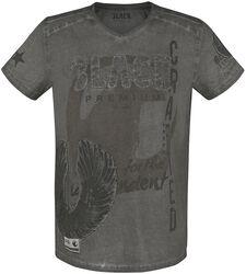 T-Shirt Gris Avec Imprimé & Appliqué