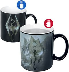 V - Skyrim - Symbole Du Dragon - Mug Thermoréactif