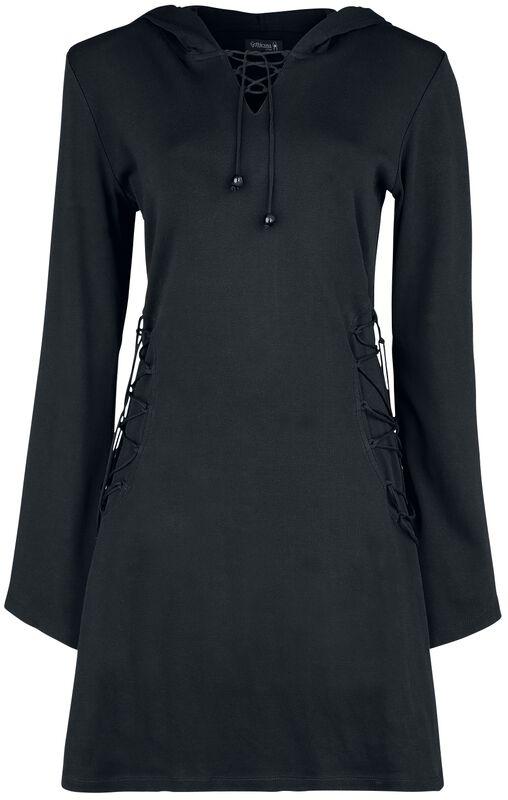 Robe Noire À Capuche