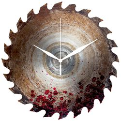 Horloge Murale Saw Blade With Blood