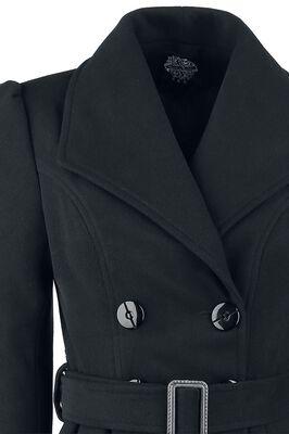 Manteau Coupe Trapèze Vintage Noir