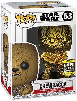 Star Wars Celebration 2019 - Chewbacca (Chrome) - Funko Pop! n°63