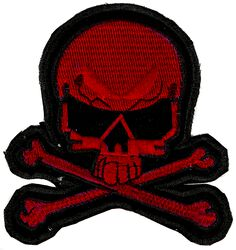 Petit Patch Crâne Rouge