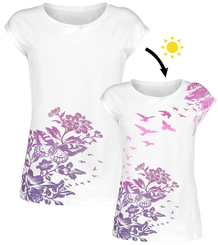 T-Shirt Blanc Ras-Du-Cou & Imprimé UV