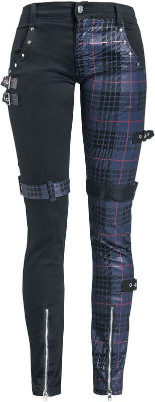 Pantalon Motifs Avec Clous & Bretelles