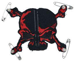 Patch : Crâne Rouge & Noir