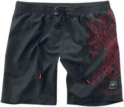 Short De Bain Black Premium Avec Imprimé Celtique