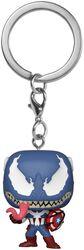 Porte-clés Venomized Captain America Pocket POP!