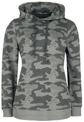 Sweat À Capuche Noir Motif Camouflage