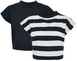 Lot De 2 T-Shirt Crop-Top Rayé