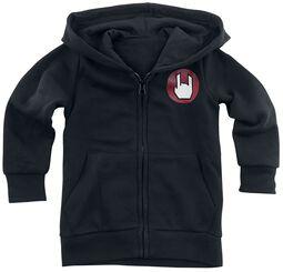 Veste À Capuche Noire Avec Logo