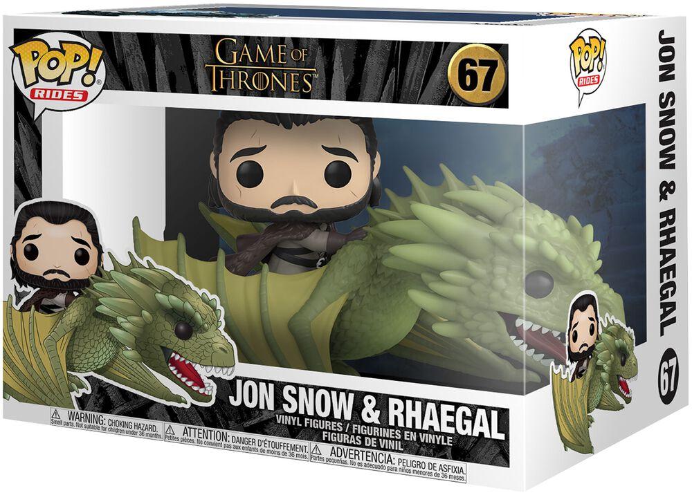 Jon Snow & Rhaegal (Pop Rides) - Funko Pop! n°67