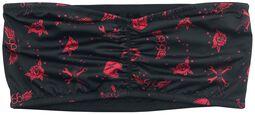 Bandeau Noir Avec Imprimé Intégral Rouge
