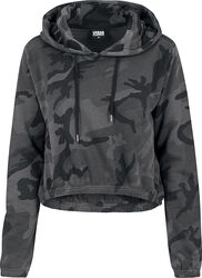 Sweat À Capuche Court Camo